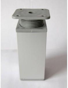 3008. kovová + plastová nábyt.noha, matt hliník, 100 mm