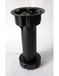 3011. plastová nábyt.noha, čierna, 120 mm