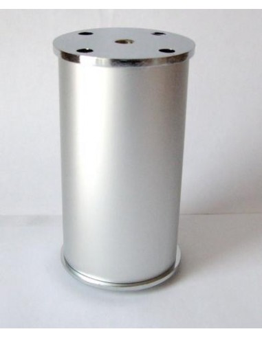 3001. kovová náb.noha, matt hliník-chróm, 110 mm