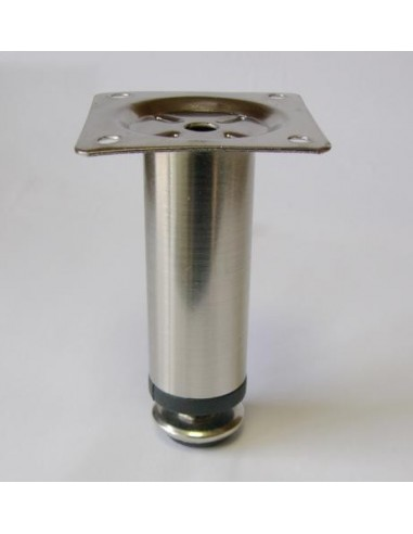 3004. kovová náb.noha, nikkel, 100 mm